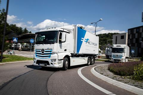 Production of Mercedes-Benz eActros marks major step towards CO2-neutral road haulage